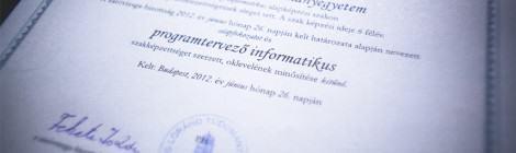 ELTE IK Diplomaosztó 2012